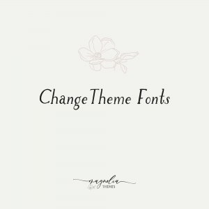 WordPress Theme Font Change