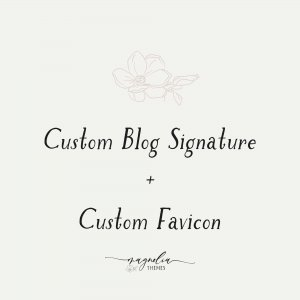 Custom Branded Site Favicon & Blog Post Signature