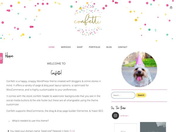 WordPress Theme Confetti