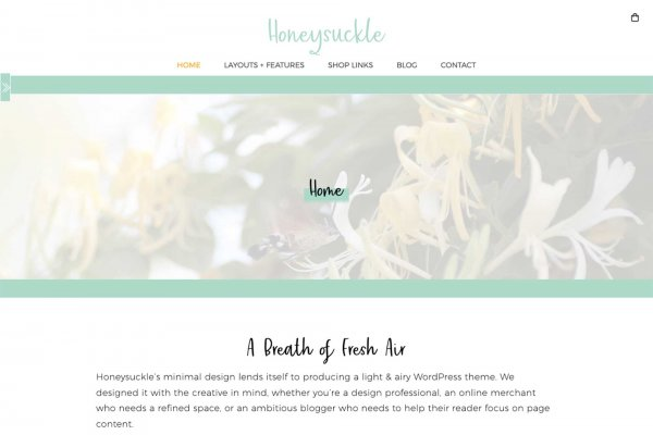 Honeysuckle WordPress Theme, Clean Web Design