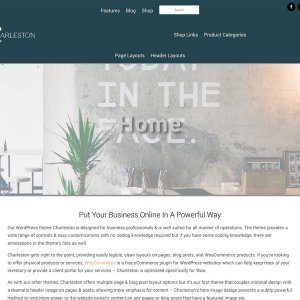 WordPress Theme Charleston, a professional theme
